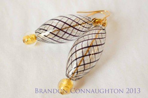 very beautiful blown glass earrings