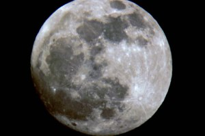 luna through telescope small
